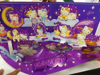 FREE NEW HELLO KITTY SOFT toy- HELLO KITTY AND STARS MY HOROSCOPE LIMITED EDITION STAMPS