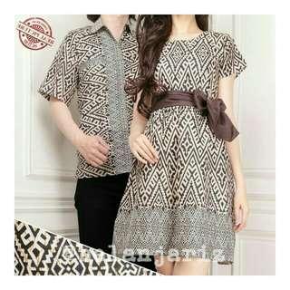 Kemeja Dan Dress Couple Batik