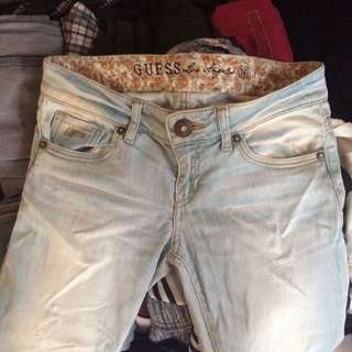 Guess tattered faded pants