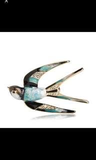 Blucome Vintage Blue Bird Brooch