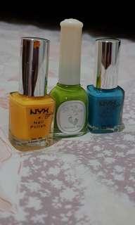 1 set full color nail polish NYX & Skin Food