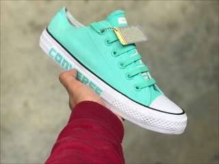 18/5 CONVERSE TAYLOR 1 EDITION (BLACK ) Maroon (36-44)  - PEACH TURQUOISE  (36-44)