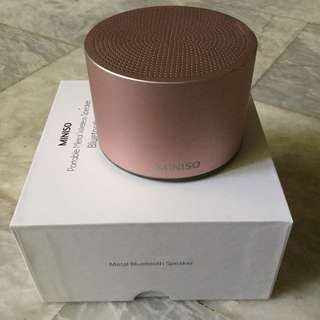 Rose Gold Miniso Speaker