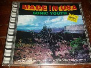 Music CD: Sonic Youth–Made In USA (Music From The Original 1986 Motion Picture Soundtrack)