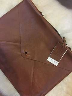 Zara Genuine Leather Document Bag