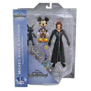 PRE_ORDER: Diamond Select Toys Kingdom Hearts Select: Mickey, Axel, and Shadow