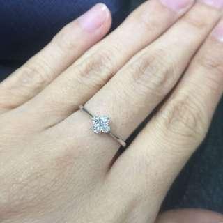 幸福四葉草鑽石戒指