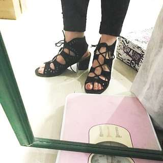 REPRICE MAY ONLY! Brash lace heels