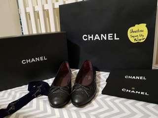 Chanel Lambskin Ballerina Flats