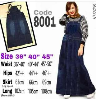 OVERALL SKIRT PLUS SIZE