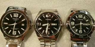 全新 日本機芯 不銹鋼錶帶 男錶 大錶面 復古 vintage vespa telux 鐵力士 天馬 日期 星期 懷舊 古著