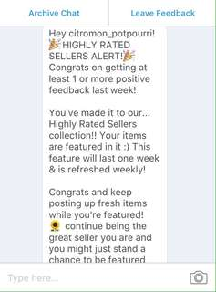 Highly Rated Seller Alert