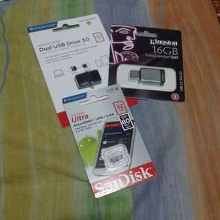 Memory Cards! OTG Flashdrives! Flashdrives!