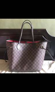 Authentic Louis Vuitton Neverfull Damier Ebene MM