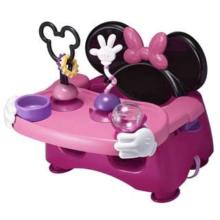 (In-Stock) The First Years Disney Baby Helping Hands Feeding and Activity (Booster) Seat, Minnie Mouse (Brand New)