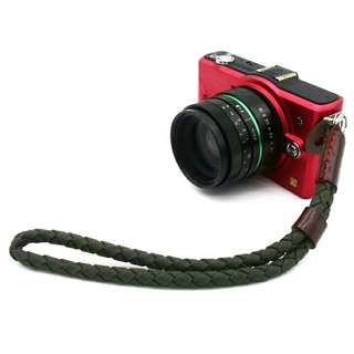🚚 Green Canvas Braided Camera Hand Strap