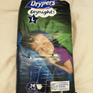 Drypers Drynights L size