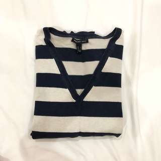 Mango Knitted Stripes Shirt