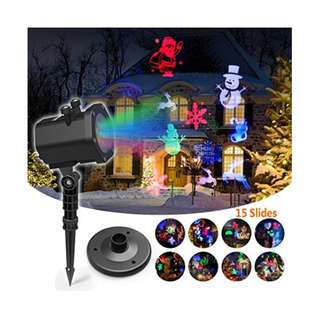 354.Christmas Led Projector Lights, InnooLight 15 Pattern, Range 40ft Projection Distance Holiday Light Projector, IP65 Waterproof Landscape Garden LED Lights for Various Themes Halloween, Christmas, etc.