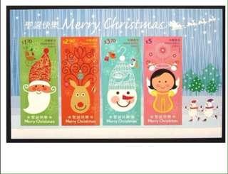 香港聖誕小全张 Hong Kong Christmas themed stamps