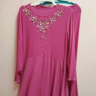 Jakel Baju Kurung Moden Pink