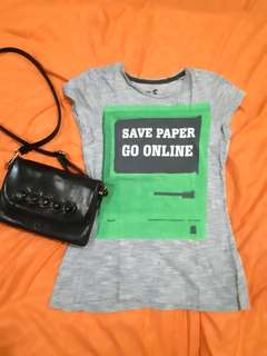 Coconut Island T-Shirt SAVE PAPER