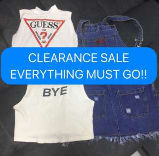 CLEARANCE SALE CHECK MY ITEMS