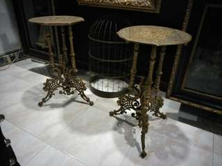 Vintage Brass End Tables