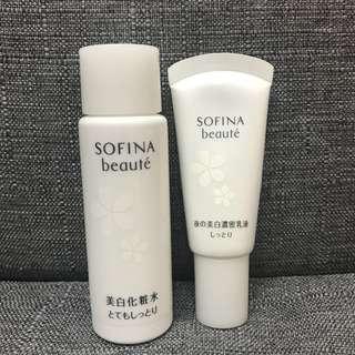 Sofina beaute 美白爽膚水 乳液sample