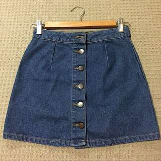 Denim button-up skirt XS/6