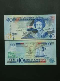 East Carribean Antigua & Barbuda 10 Dollars 🇦🇬 !!!