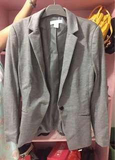 H&M Grey Blazer/ Fitted Jacket - Blazer HnM