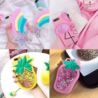 [PREORDER] Cute Silicone quicksand phone case