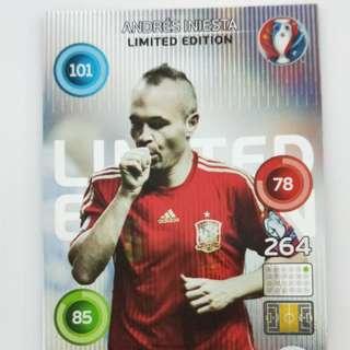 Andres Iniesta Euro 2016 soccer card