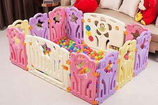 FREE Delivery - 10 Panels +1 Door +1 Activity Panel Baby Kids Play yard Playpen Safety Playground