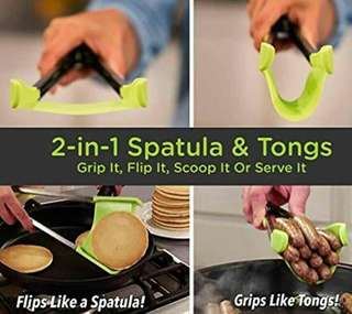 2-in-1 spatula & tongs