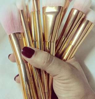 AUTHENTIC ROSE GOLD FAIRY WAND BRUSH SET