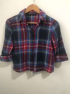 Cotton On Checkered Crop Top