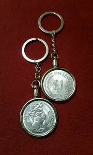 Merlion  $1 dollar key chain