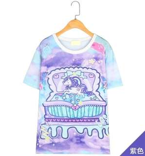 PO Pretty Unicorn Dye Print Tee