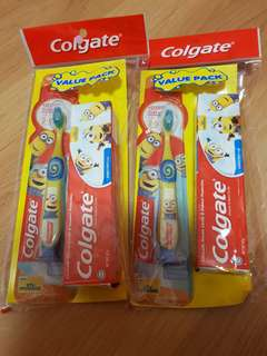 BN Colgate Minions Toothbrush Set