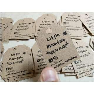 Craft paper tag mini 100pcs