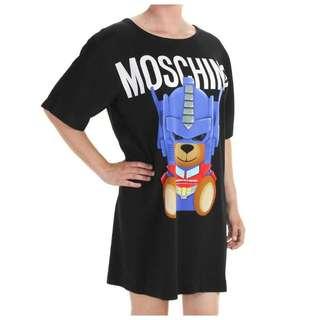 Moschino 黑色卡通印圖連衣裙
