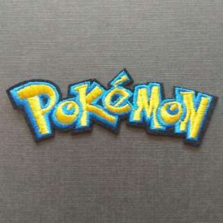 Pokemon Logo Iron On Patch