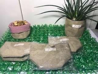 Plant bag Rattan