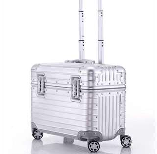 Silver Cabin Size Luggage