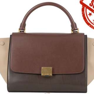 Celine Trapeze wine multi-colour large size