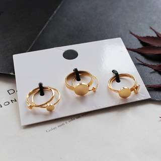 Minimalist Golden Rings Set