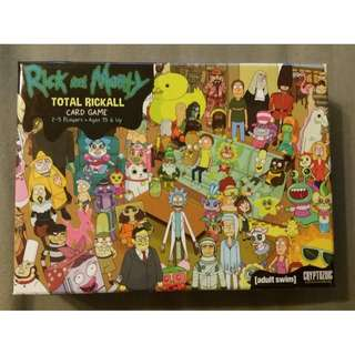 Rick and Morty Total Rickall Card Board Game