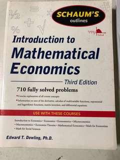 Introduction to Mathematical Economics(Schaum's)